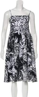 Salvatore Ferragamo Floral Print Sleeveless Dress