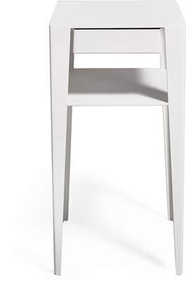 En Pointe Side Table White