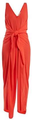 Mara Hoffman Muriel Tie Waist Jumpsuit - Womens - Red