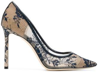 Jimmy Choo Romy 100 lace pumps
