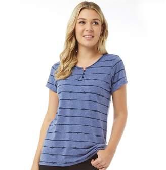 5b6284408345b at MandMDirect.com · Animal Womens Ayiti Graphic T-Shirt Dusty Blue Marl