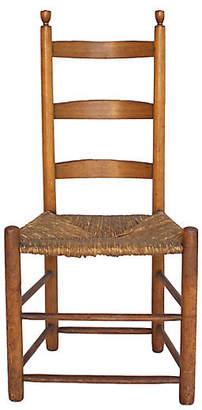One Kings Lane Vintage Antique English Ladderback Chair - G3Q Designs