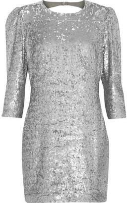 Fleur Du Mal Open-Back Sequined Crepe Mini Dress