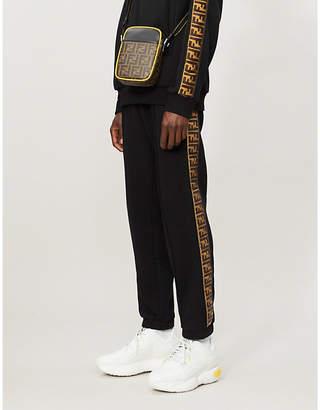 Fendi Side-stripe wool, cotton, silk and cashmere-blend jogging bottoms