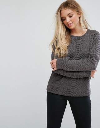 QED London Quilted Sweater