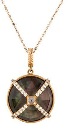 Mother of Pearl 18K Diamond, Sapphire & Doublet Pendant Necklace