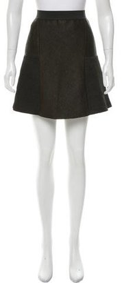 Sandro Textured Flare Skirt w/ Tags $75 thestylecure.com
