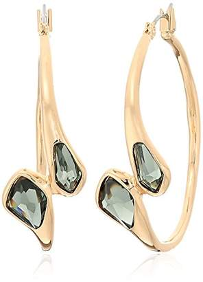 Robert Lee Morris The Bigger Stone Faceted Hoop Earrings