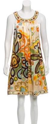 Sue Wong Embellished Silk Dress