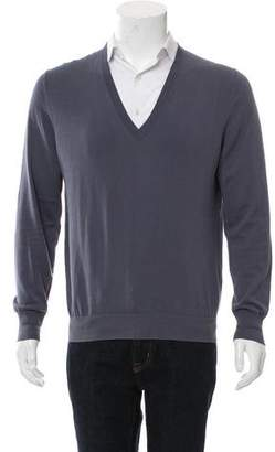 Burberry Woven V-Neck Sweater