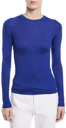 Ralph Lauren Ribbed Silk Crewneck Shirt