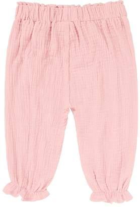 Blend of America Kids Tales Unisex Baby Girls Boys Cotton Linen Ruffle Bloomer Pants