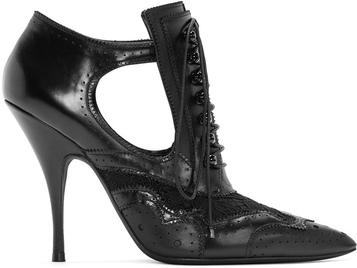 Givenchy Black Leather & Lace Boots