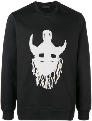 Diesel Black Gold mask print sweatshirt