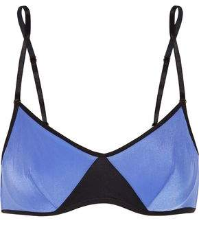 Elle Macpherson Body Vee Two-Tone Stretch-Jersey Underwired Bra