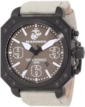 BEIGE Wrist Armor Men's WA145 C4 Stainless Steel Analog Display Swiss Quartz Watch with Canvas Strap