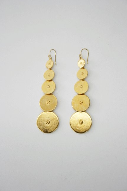 Ben Amun Gold Plated Coin Dangle Earrings