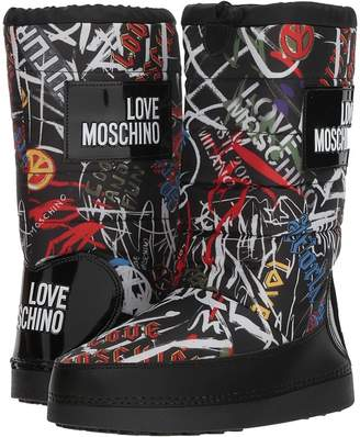 Love Moschino Grafitti Print Snow Boot Women's Boots