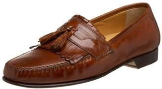 Johnston & Murphy Mens Breeland Leather Round Toe Slip On Shoes