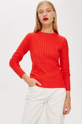 Topshop Super Soft Rib Crew Neck Jumper