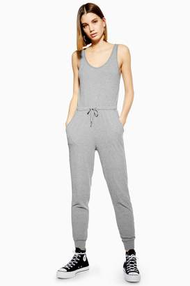 c2985dc2332 Topshop Womens Ribbed Lounge Jumpsuit - Grey Marl