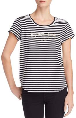 Kenneth Cole Kam Striped Logo-Graphic Tee