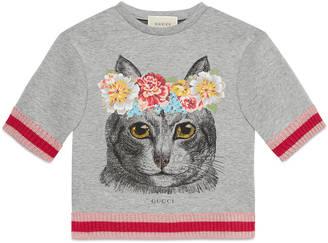 Children's sweatshirt with cat print $280 thestylecure.com