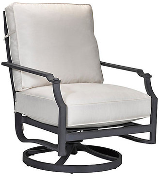 Lane Venture Raleigh Rocker Club Chair - Black/White Sunbrella