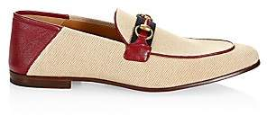 Gucci Men's Web Brixton Loafers