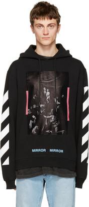 Off-White Black Diagonal Caravaggio Hoodie $540 thestylecure.com