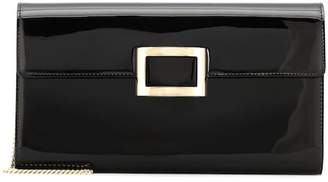 Roger Vivier Viv' Envelope patent leather clutch