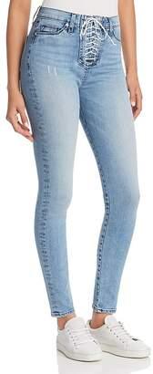 Hudson Bullocks Skinny Lace-Up Jeans in Guilty Pleasure