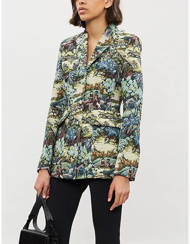 Tapestry-pattern brocade jacket