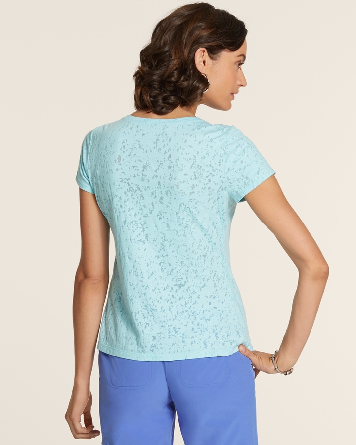 Chico's Cady Tonal Embellished Tee