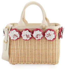 Prada Small Flowers Raffia Basket Bag $1,730 thestylecure.com