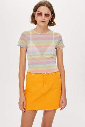 Topshop Pastel Rainbow T-Shirt