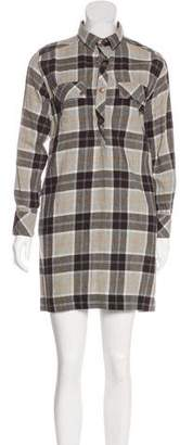 Current/Elliott Plaid Mini Dress