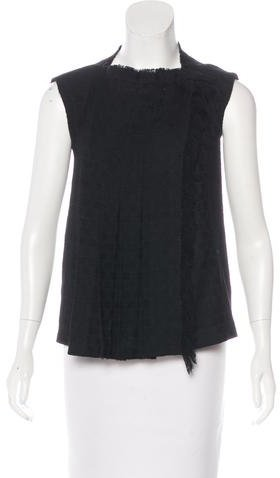 Chanel Sleeveless Tweed Top