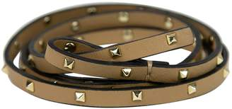 Valentino Khaki Leather Belts