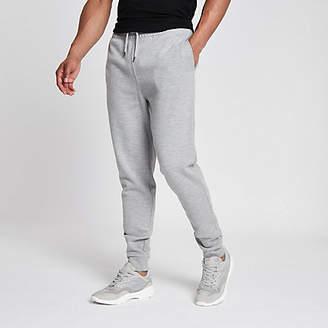 River Island Grey marl slim fit pique jogger