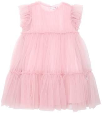 Il Gufo Stretch Tulle & Cotton Party Dress