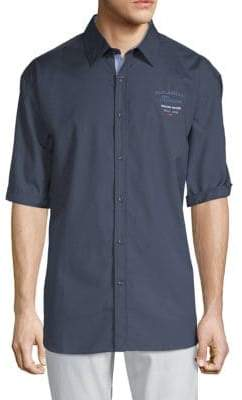 Paul & Shark Embroidered Cotton Button-Down Shirt