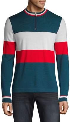 Paul Smith Colourblock Ribbed Wool Sweatshirt
