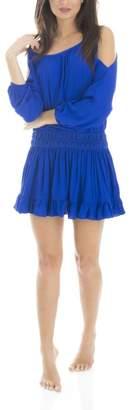 Olivaceous Open Shoulder Dress