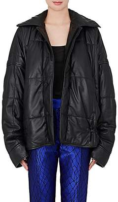 Haider Ackermann WOMEN'S QUILTED LEATHER PUFFER COAT