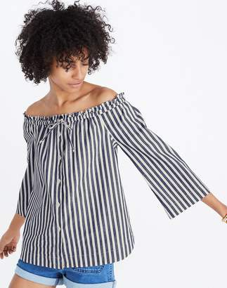 Madewell Shimmer Stripe Off-the-Shoulder Top