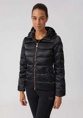 Emporio Armani Ea7 Windproof Technical Fabric Jacket With Down Padding