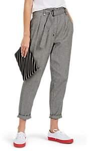 Ksubi Women's Bite Back Houndstooth Linen-Blend Trousers - Gray