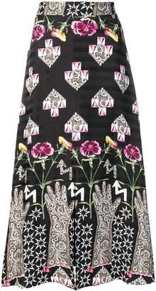 Temperley London geometric print skirt