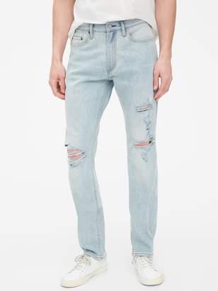 Gap Wearlight Destructed Slim Jeans with GapFlex